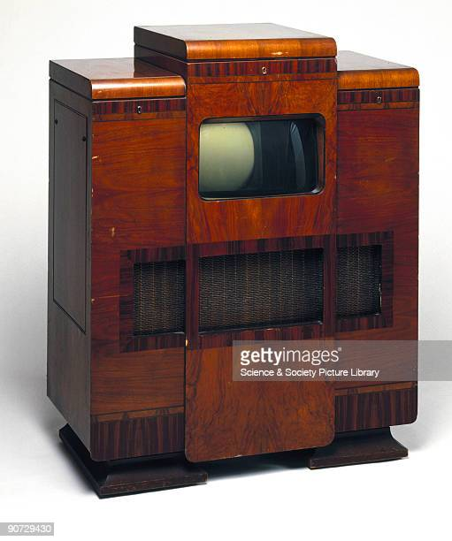 The cost of a television was comparable to the price of a saloon car during the 1930s This complete home entertainment system from HMV comprising a 9...
