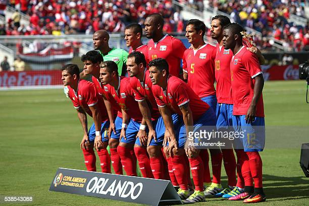 The Costa Rica starting lineup is seen during the 2016 Copa America Centenario Group A match between Costa Rica and Paraguay at Camping World Stadium...