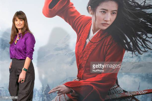 The costume designer of the film Bina Dailinger pose for the photocall of the film Mulan Disney presentation at Santo Mauro Hotel on January 17 2020...