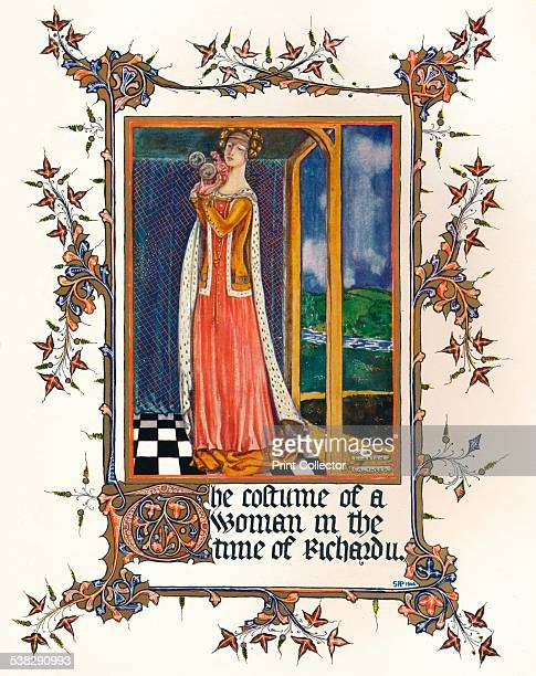The Costume of a Woman in the time of Richard II, 1904. From The Connoisseur Vol. X [Otto Limited, London, 1904.] Artist: Unknown. )