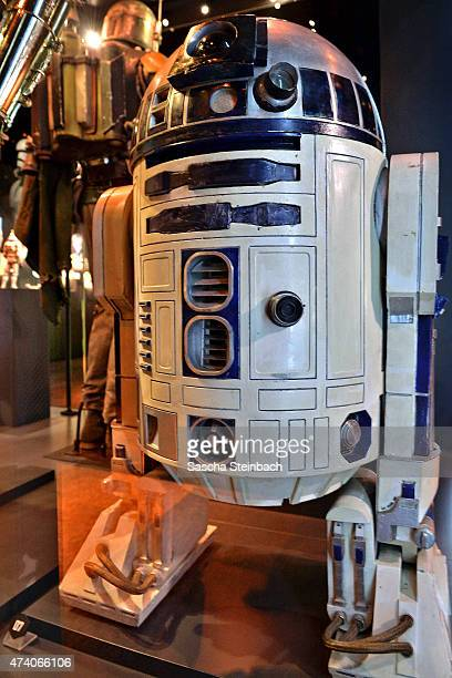 The costume worn by Kenny Baker as R2D2 is seen during the 'Star Wars Identities' Exhibtion Press Preview VIP Opening at Odysseum on May 20 2015 in...