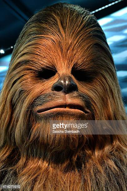 The costume worn by Peter Mayhew as Chewbacca the Wookie is seen during the 'Star Wars Identities' Exhibtion Press Preview & VIP Opening at Odysseum...