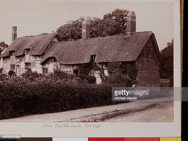 The cottage where Anne Hathaway William Shakespeare's wife was born Shottery ca 1880s