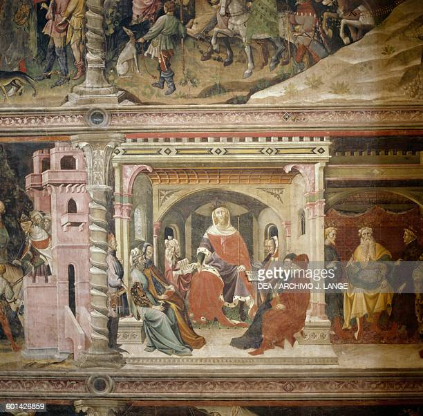 The Council of Herod fresco by Giovanni da Modena Bolognini chapel Basilica of St Petronio detail Bologna EmiliaRomagna Italy 14th17th century