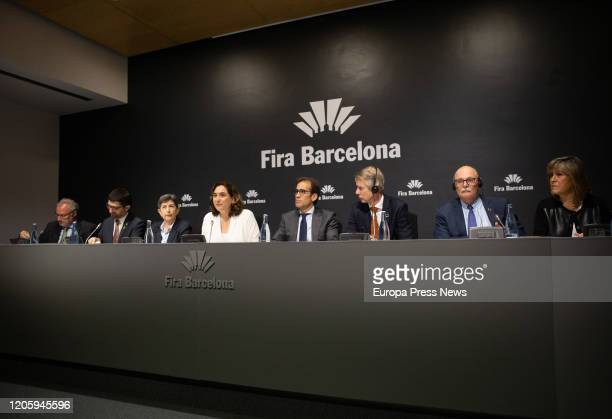 The councillor Digital Policy and Public Administration, Jordi Puignero, the Government delegate in Cataluña, Teresa Cunillera, the mayor of...