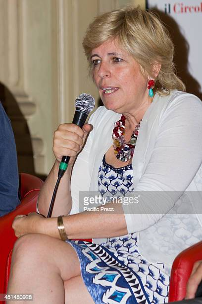 The Councillor for Culture Piedmont Region Antonella Parigi during the press conference on the Agrirock festival of literature and music or...