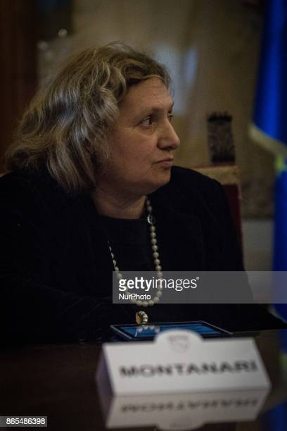 The councillor for environmental sustainability Pinuccia Montanari during 'Zero Waste' press conference in Rome Italy on 23 October 2017 With this...