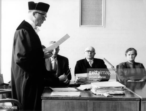 The counsel for the prosecution the senior public prosecutor Dr Kühn during an examination of the witnesses on 27 March 1958 On 12 March 1958 the...