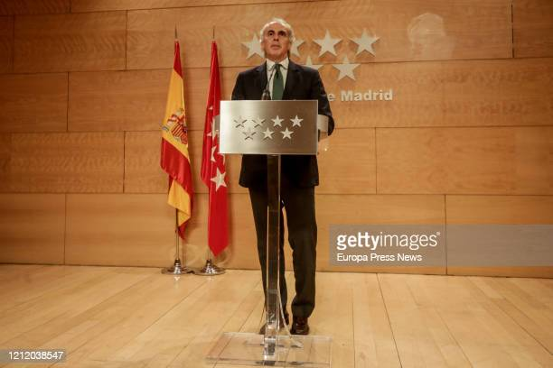The Counsellor of Health of the Community of Madrid Enrique Ruiz Escudero presents the integral health plan designed by the regional government so...