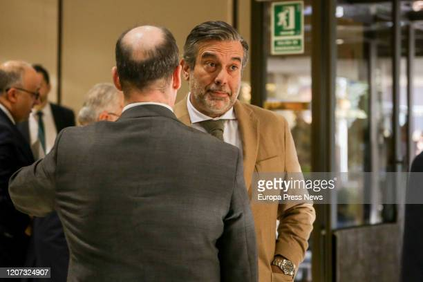The counsellor of Justice Interior and Victims of Terrorism of the Community of Madrid Enrique Lopez at his arrival to the inauguration of the...
