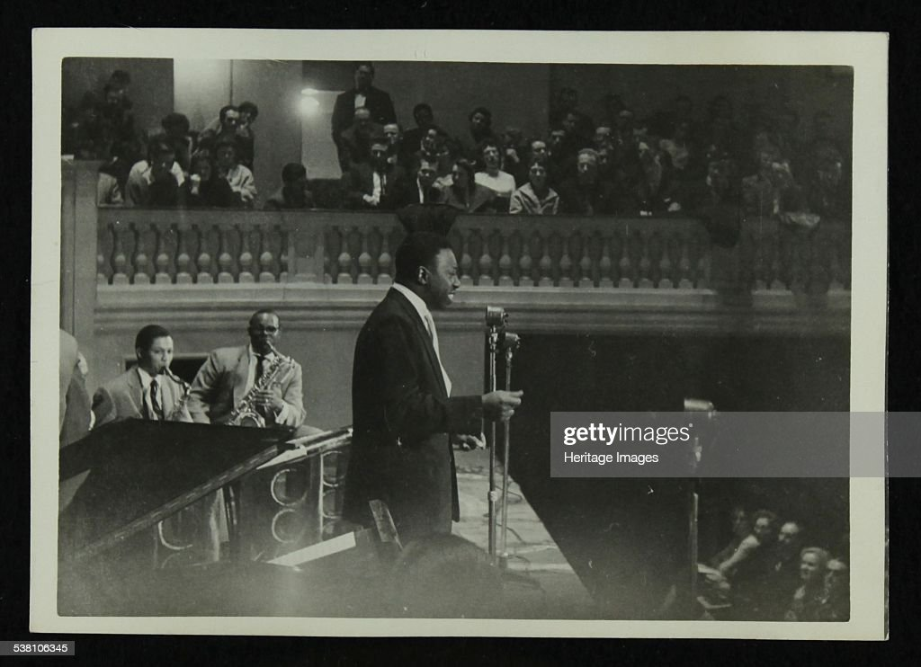 The Count Basie Orchestra in concert, c1950s. . : News Photo