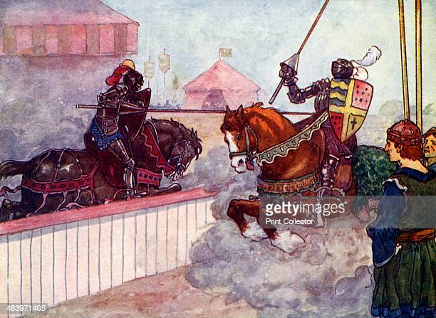 'The Count rode again and again at Edward till his lance was splintered in his hand' c1270 Count of Chalons and Edward I fight in the Little War of...