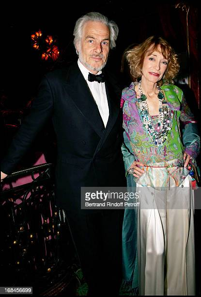 The Count Thadee Klossowski De Rola andhis wife Loulou De La Falaise at Dinner At Maxim's Organised by SAS The Princess Maria Von Thurn Und Taxis .