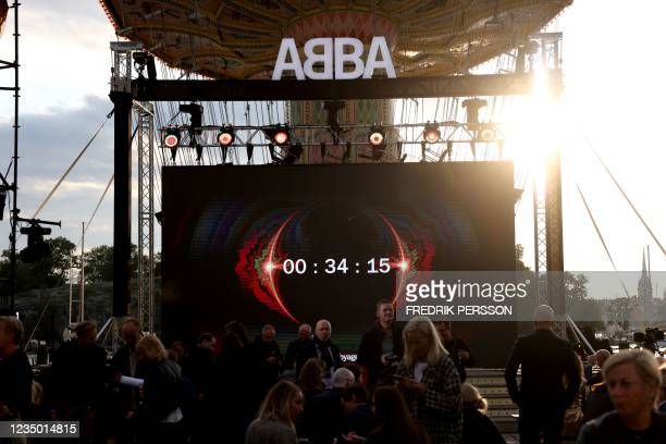 The countdown of Swedish group ABBA Voyage event is seen on September 2, 2021 on a display at Grona Lund, Stockholm, prior to the presentation of the...