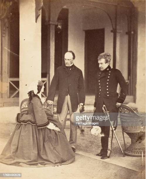 The Countess Canning The Earl Canning GG and Lord Clyde Cin C Simla 1860 Artist Unknown