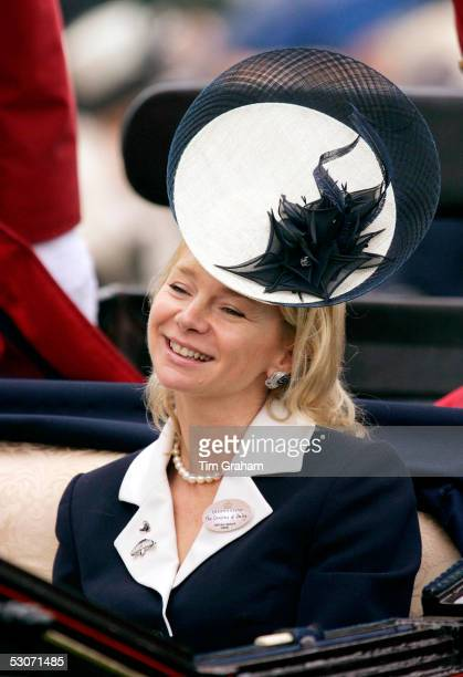 The Countess of Derby attends the second day of Royal Ascot 2005 at York Racecourse on June 15, 2005 in York, England. One of the highlights of the...