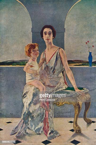 The Countess of Rocksavage and Her Son' c1922 After the painting by Charles Sims RA From Modern Masterpieces Part 19