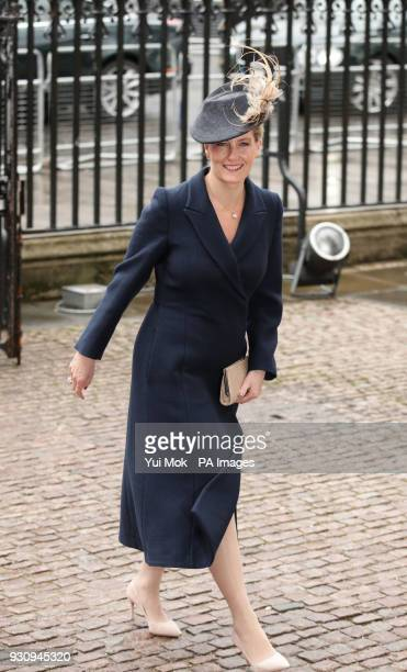 The Countess of Wessex arrives for the Commonwealth Service at Westminster Abbey London