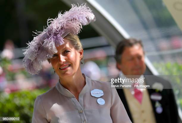 The Countess of Wessex during day three of Royal Ascot at Ascot Racecourse.