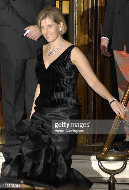 The Countess of Wessex during HRH The Queen's 80th Birthday Party Departures December 5 2006 at The Ritz in London Great Britain