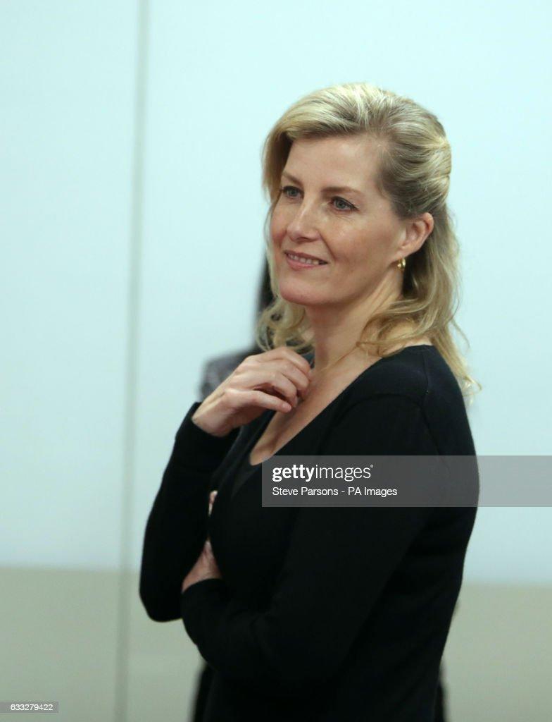 Royal visit to British Women's Hockey HQ : News Photo