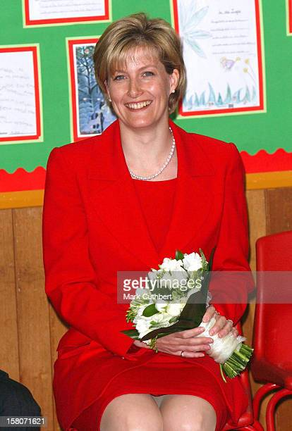 The Countess Of Wessex Visits The Heather Ridge Prior Heath Infant Schools In Surrey