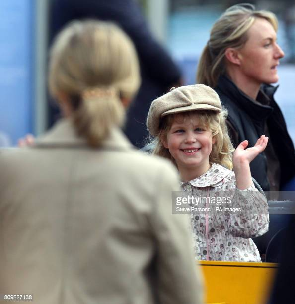The Countess of Wessex watches her daughter Lady Louise Windsor enjoy a fairground ride at the Royal Windsor Horse show Windsor