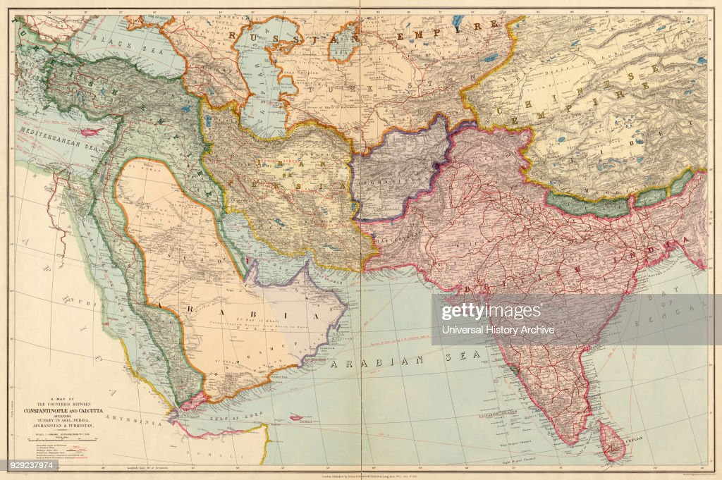 The Countries Between Constantinople and Calcutta including Turkey in Asia, Persia, Afghanistan and Turkestan : News Photo