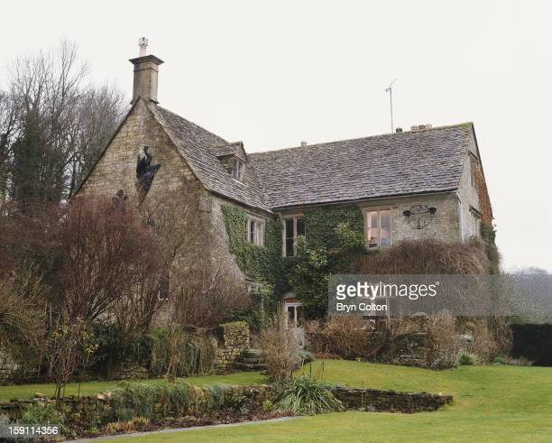 The country home of English author Jilly Cooper in Bisley Gloucestershire 4th February 2000