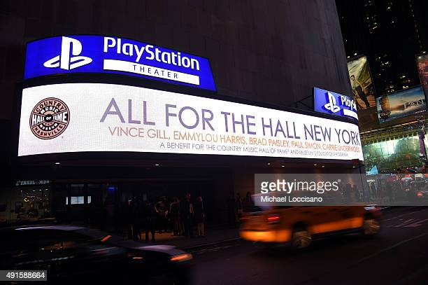 The Country Music Hall Of Fame Museum All For The Hall New York Benefit Concert at PlayStation Theater on October 6 2015 in New York City