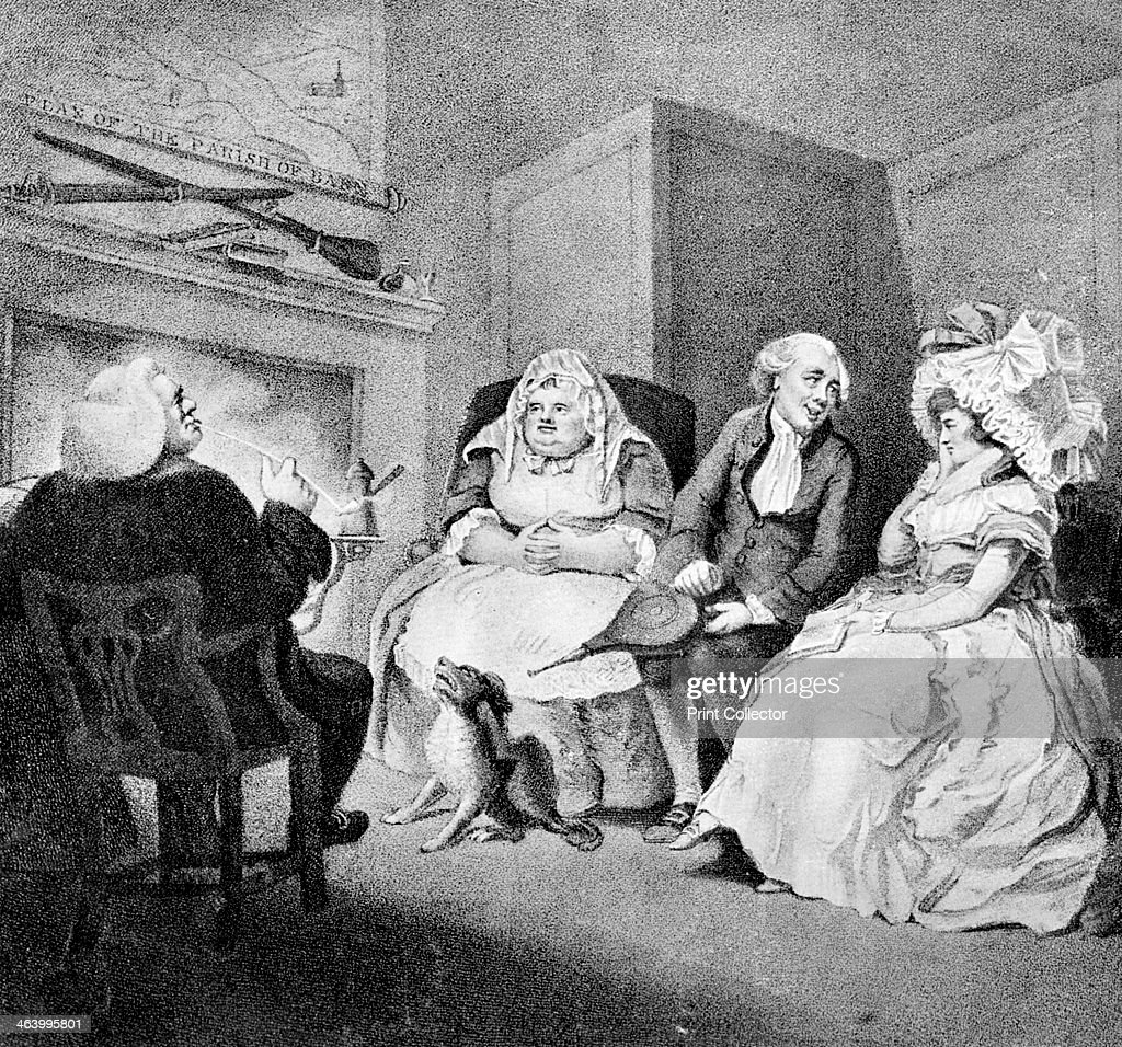 'The Country Vicar's Fire Side', 1781. Artist: E Williams : News Photo