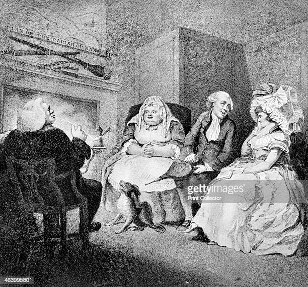 'The Country Vicar's Fire Side' 1781 Illustration from Social Caricature in the Eighteenth Century With over two hundred illustrations by George...