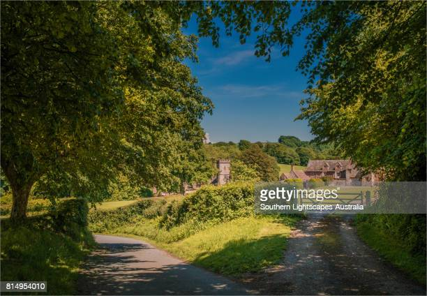 The countryside of the Cerne Valley, near the village of Up-Cerne in Dorset, England, United Kingdom