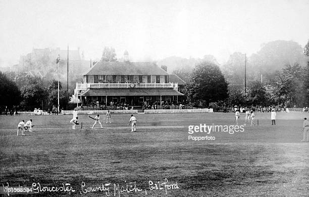 The county championship match between Kent and Gloucestershire being played at Catford cricket ground on 24th July 1905 Kent won by 142 runs