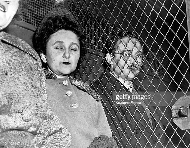 The couple Julius and Ethel ROSENBERG engineers during their trial The couple was accused by the American government of spying for the USSR The two...