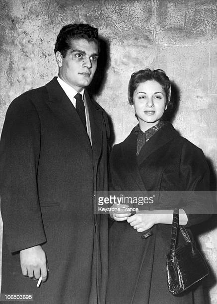The Couple Of Egyptian Actors On Their Wedding Trip In Paris 19550310