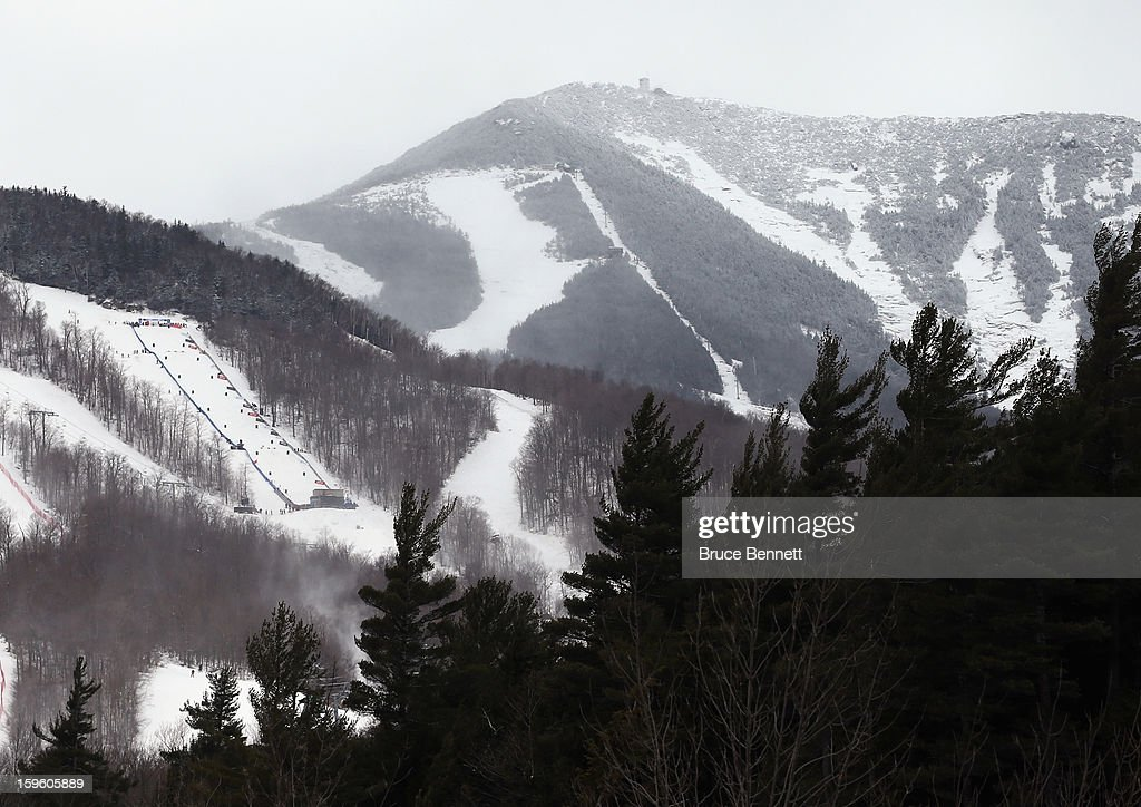 The course is set for the USANA Freestyle World Cup Moguls competition at Whiteface Mountain on January 17, 2013 in Lake Placid, New York.