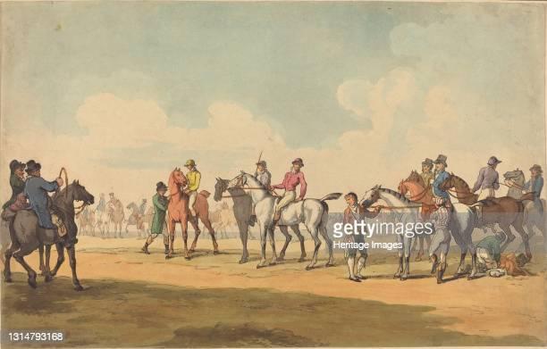 The Course, probably 1789. Artist Thomas Rowlandson.
