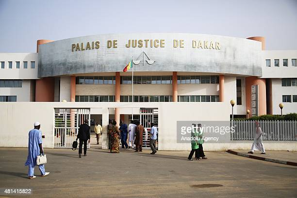 The court building where the trial of former Chadian ousted leader Hissene Habre is taking place in Dakar Senegal Monday on July 20 2015 The former...