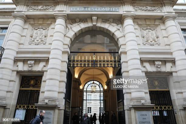 The Court of Auditors' building is pictured within its solemn hearing to mark the beginning of the year on January 22 2018 in Paris