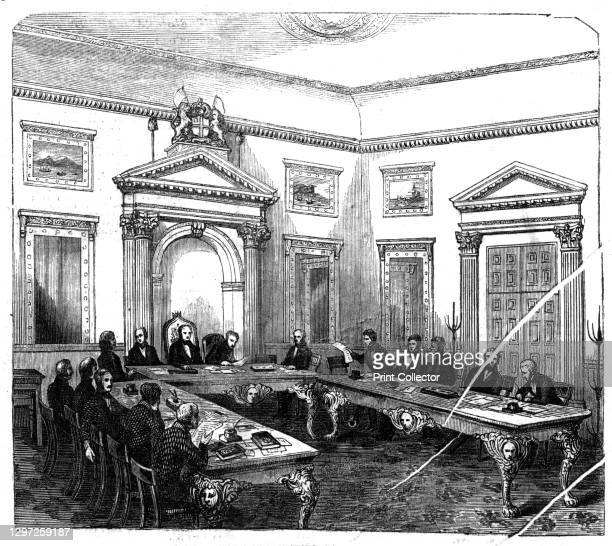 The Court of Directors, East India House, 1844. 'The unusual assertion by the Court of Directors of the East India Company of their right to remove a...