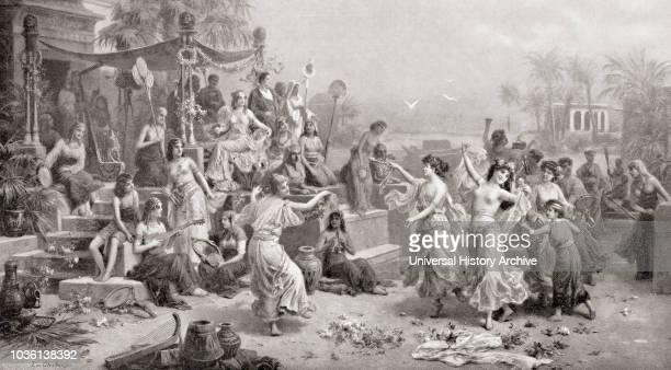 The court of Mark Antony and Cleopatra, 1st century BC. Marcus Antonius, 83 - 30 BC, aka Mark or Marc Antony. Roman politician and general. Cleopatra...