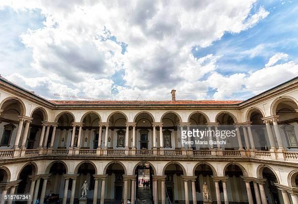 The Court of Palazzo Brera, Milan, Italy.