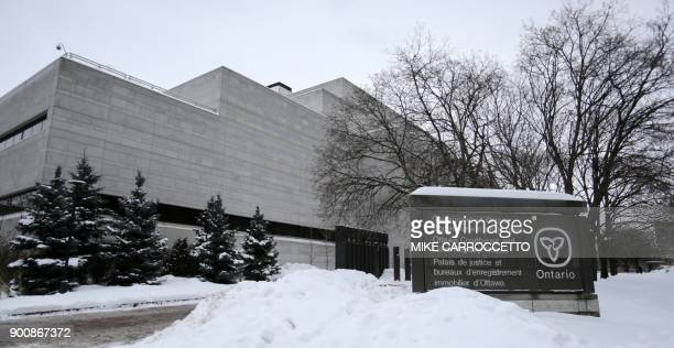 The courthouse in Ottawa Canada January 3 2018 where former Taliban hostage Joshua Boyle briefly appeared via video link to face a slew of charges...