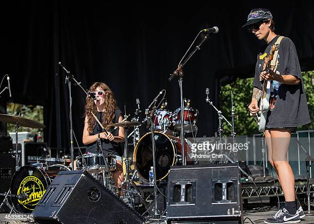 The Courtneys perform on stage during Day 1 of Squamish Valley Music Festival on August 8 2014 in Squamish Canada