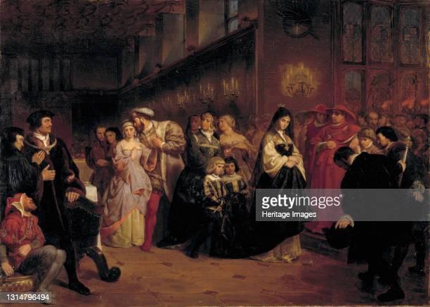 The Courtship of Anne Boleyn, 1846. Artist Emanuel Gottlieb Leutze.