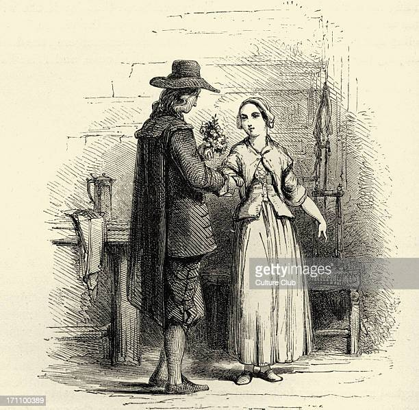 The courtship of Miles Standish by Henry Wadsworth Longfellow 'The proposal' American lyric poet 27 February 1807 – 24 March 1882