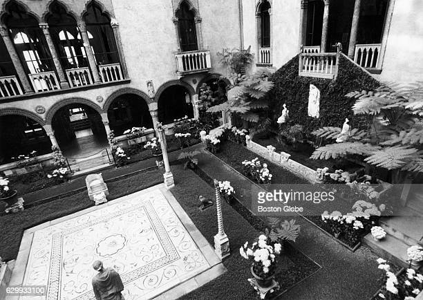 The courtyard at the Isabella Stewart Gardner Museum in Boston December 1987