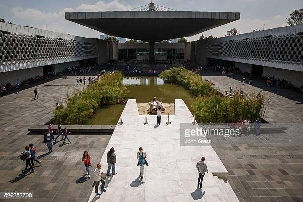 The courtyard at the Museo Nacional de Antropologia in Mexico City Mexico September 20 2015