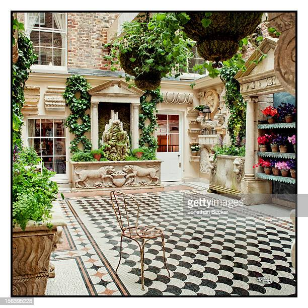 The courtyard is photographed at 5 Hertford Street, which is home to the nightclub Loulou's for Vanity Fair Magazine on June 11, 2012 in London,...